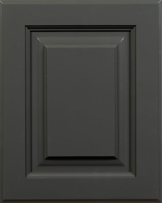 Gaston Raised Panel Door Style with Quarry Enamel on Maple Wood