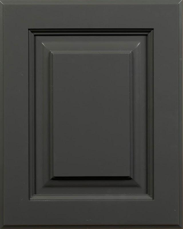 Gaston Raised Panel Door Style with Quarry Enamel on Maple Wood