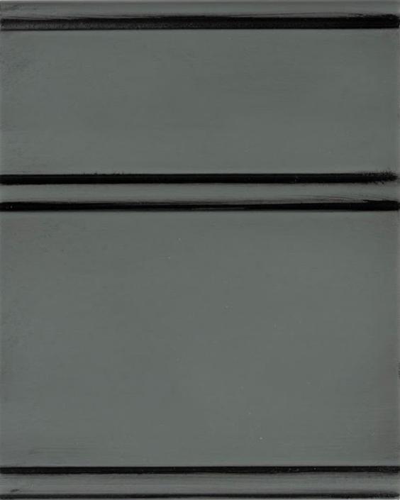 Homburg Gray Enamel with Bold Black Shadow on Maple Wood