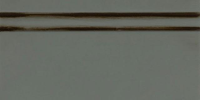 Homburg Gray Enamel with Bold Coffee Shadow on Maple Wood