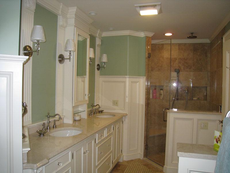 Contemporary white full bathroom