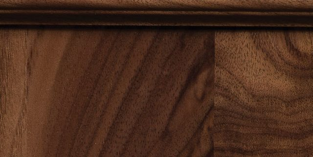 Natural-Tinted Stain on Walnut Wood