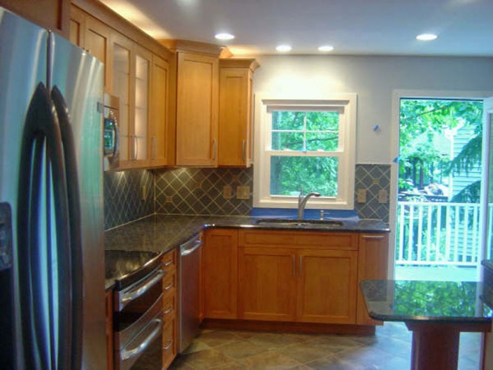 A Traditional stained kitchen