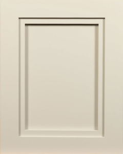 Portofino Flat Panel Door Style with Monument Gray Enamel on MDF