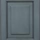 Preston Raised Panel Door Style with Slate Enamel with Bold Brushed Black Shadow on Maple Wood