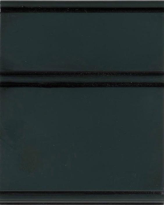 Rookwood Shutter Green Enamel with Bold Black Shadow on Maple Wood