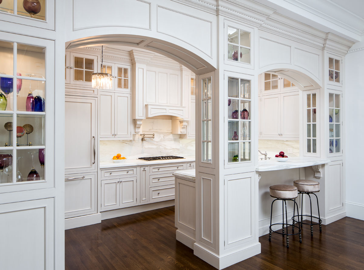 Tedd Wood Custom Kitchen With Arches And Panels