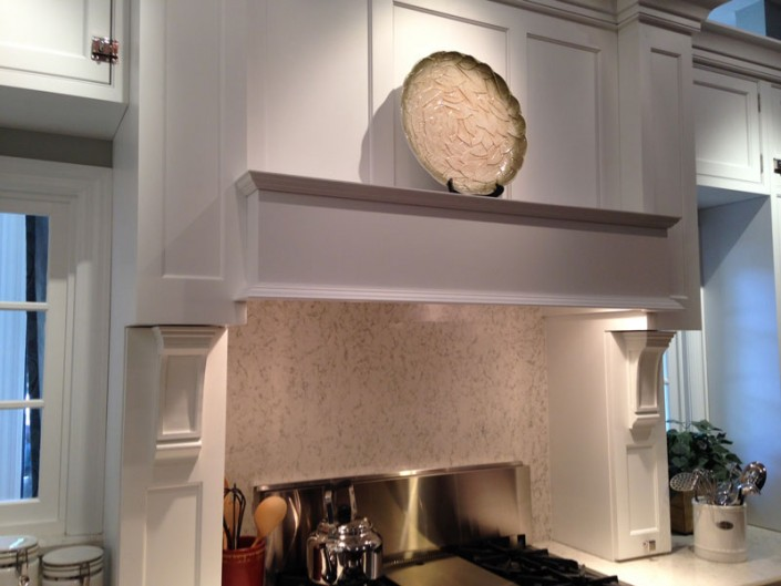Contemporary white kitchen range hood