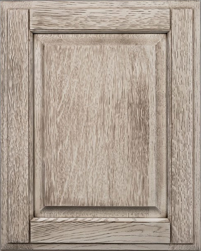 Windover Raised Panel Door Style with Tidewater Cape May Finish on Quarter Sawn White Oak Wood