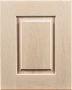 Arcadia Raised Panel Door Style with Dovetone Stain on Maple Wood