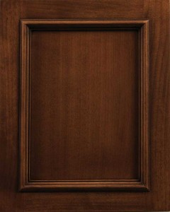 Arlington Flat Panel Door Style with Auburn Stain and Lite Black Shadow on Alder Wood