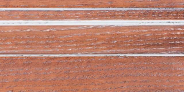 Auburn with Bold White Shadow on Qtr Sawn Oak
