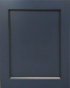 Charleston Reversed Raised Panel Door Style with Naval Enamel and Bold Black Shadow on Maple