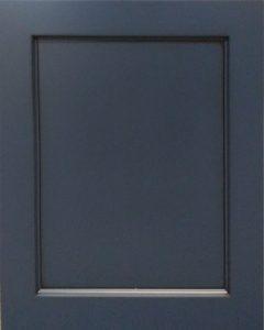 Charleston Reversed Raised Panel Door Style with Naval Enamel and Bold Black Shadow on Maple