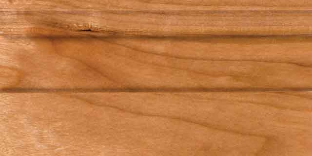 Natural Finish on Cherry or Alder Wood