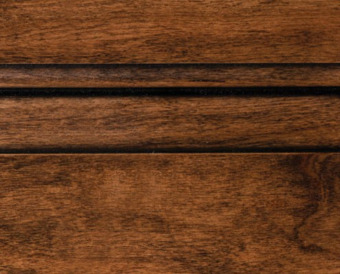 Colonial with Bold Black Shadow on Cherry Alder