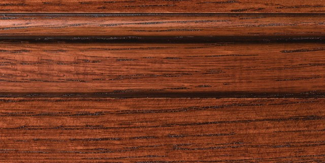 Cordovan with Bold Brown Shadow on Qtr Sawn Oak
