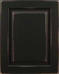 Cypress Raised Panel Door Style with Black Enamel and Antiquing on Maple Wood