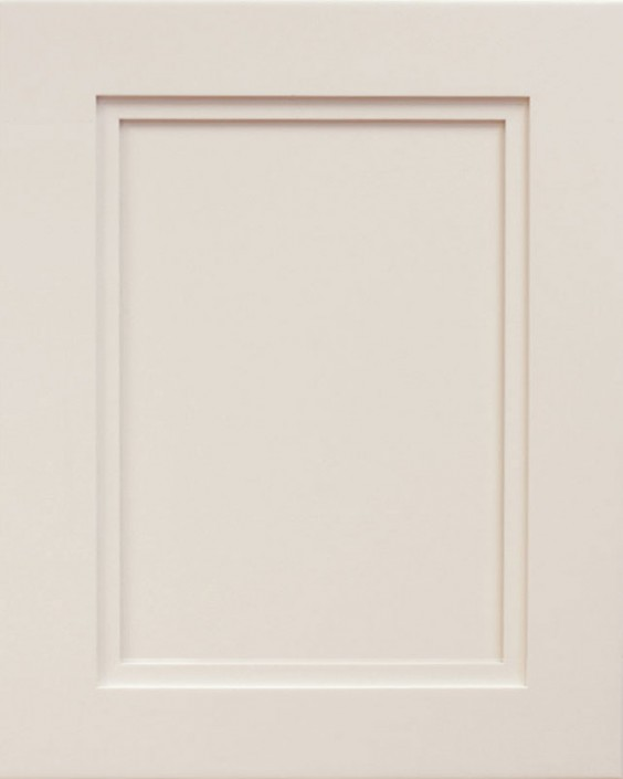 Empire Flat Panel Door Style with Egg Shell Enamel on Maple Wood