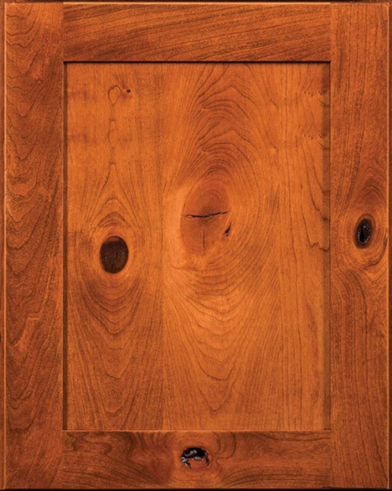 Gettysburg Flat Panel Door Style with Acorn Stain on Cherry Wood