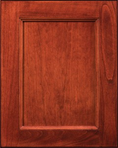 Graceland Flat Panel Door Style with Richmond Stain on Cherry Wood