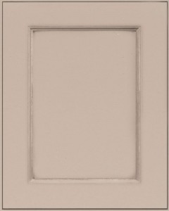 Graceland Flat Panel Door Style with Sandstone Enamel on Maple Wood