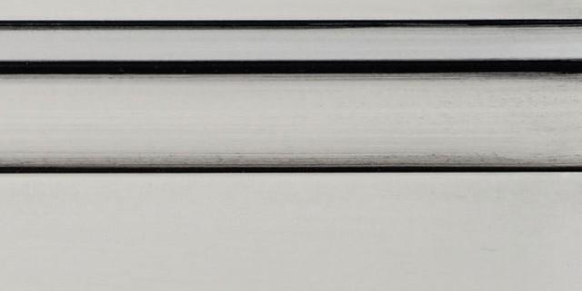 Graystone Enamel With Bold Black Shadow on Maple Wood