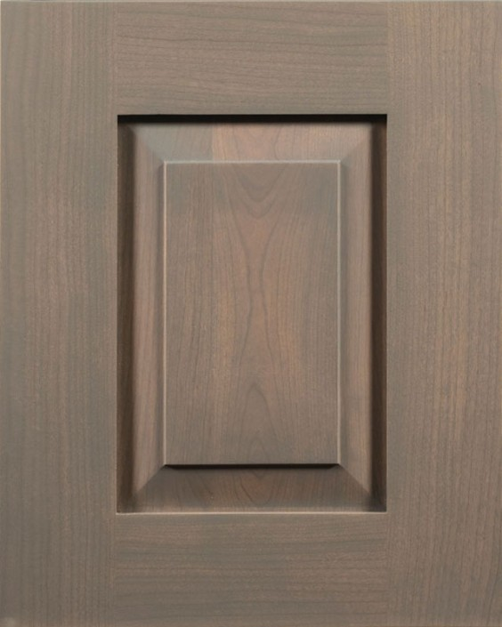 Loomis Raised Panel Door Style with Denim Stain on Cherry Wood