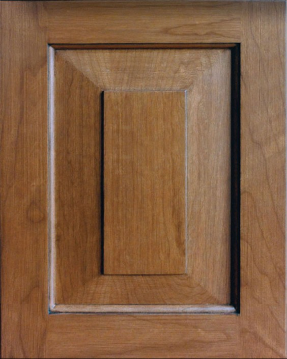 Madison Square Raised Panel Door Style with Colonial Stain on Cherry Wood & Wood Doors u2013 Tedd Wood LLC
