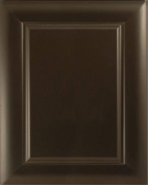 Midtown Raised Panel Door Style with Heritage Black Enamel on Maple Wood
