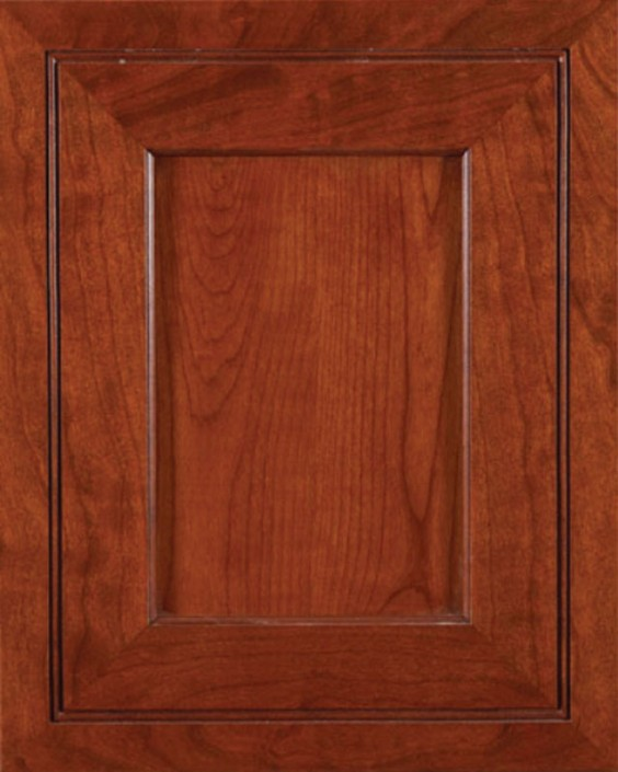 Mirage Flat Panel Door Style with Richmond Stain on Cherry Wood