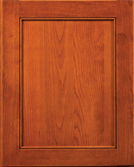 Monticello Flat Panel Door Style with Acorn Stain on Cherry Wood