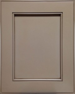 Napa Flat Panel Door Style with Sandstone Enamel and Lite Coffee Shadow on Maple Wood