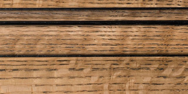 Natural with Bold Black Shadow on Qtr Sawn Oak