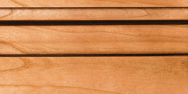 Natural with Bold Brown Shadow on Cherry Alder