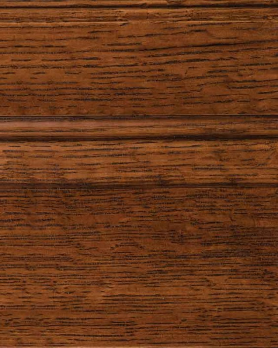 Saddle Brown Stain on Quarter Sawn White Oak Wood