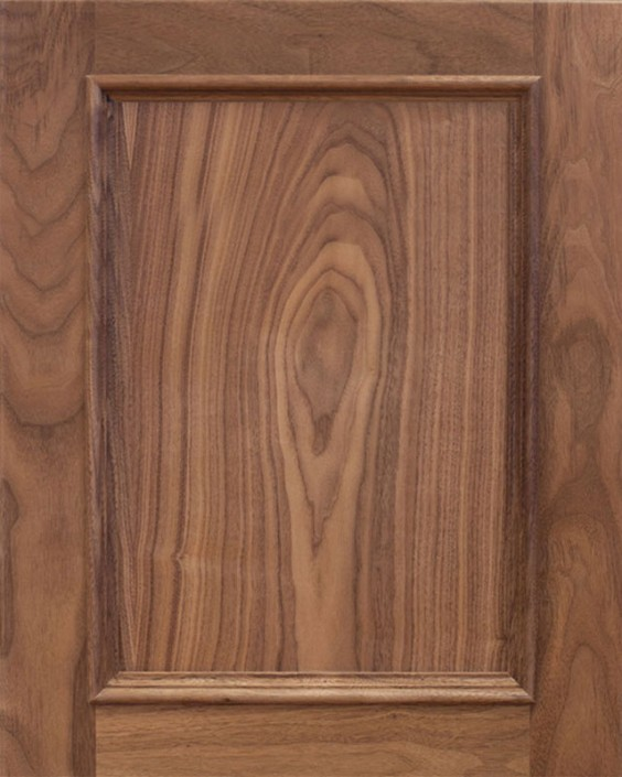 Rainer Flat Panel Door Style with Natural Stain on Walnut Wood & Wood Doors u2013 Tedd Wood LLC