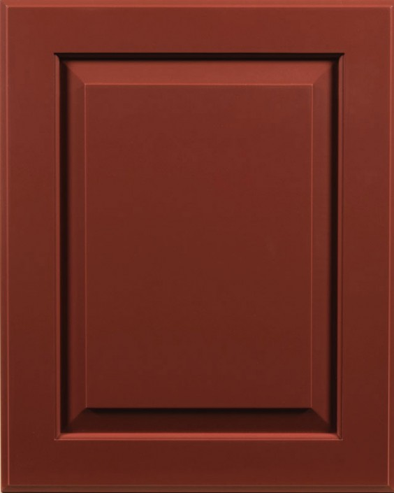 Ridgecrest Raised Panel Door Style with Barn Red Enamel on Maple Wood