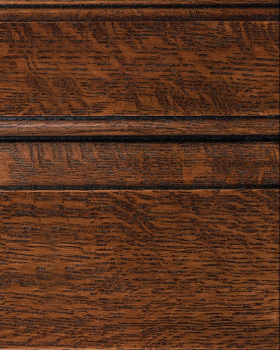 Saddle Brown with Bold Black Shadow on Qtr Sawn Oak