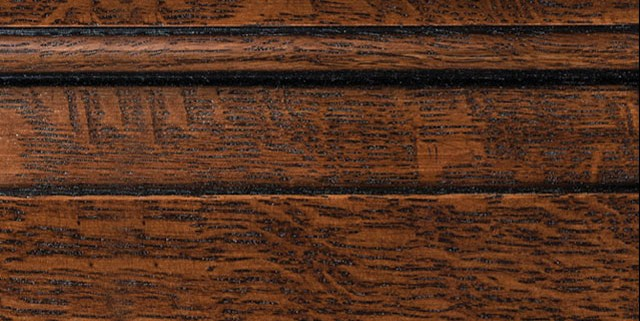 Leather Brown with Bold Black Shadow on Qtr Sawn Oak