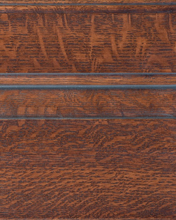 Saddle Brown with Bold Pewter Shadow on Qtr Sawn Oak