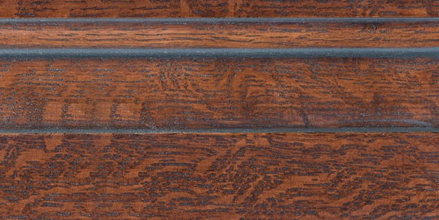 Leather Brown with Bold Pewter Shadow on Qtr Sawn Oak