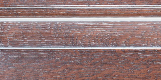 Leather Brown with Bold White Shadow on Qtr Sawn Oak