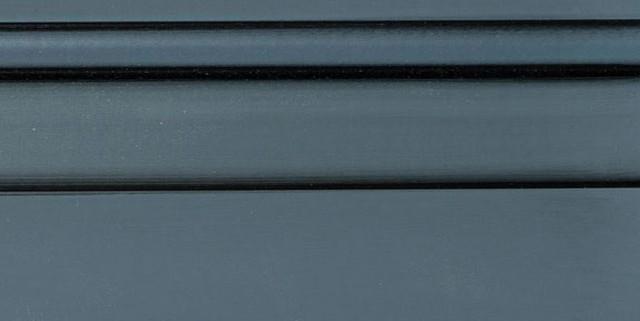 Slate Enamel With Bold Black Shadow on Maple Wood