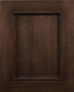 Stockton Flat Panel Door Style with Espresso Stain on Quarter Sawn White Oak Wood