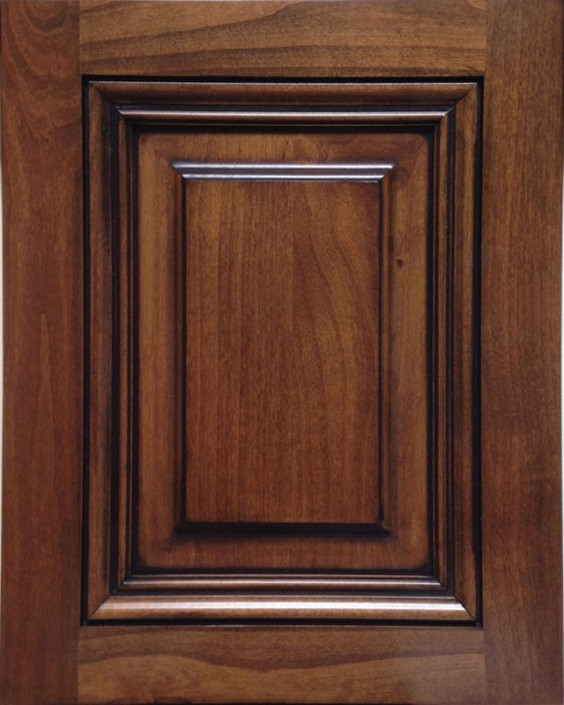Templeton Raised Panel Door Style with Colonial Stain and Bold Black Shadow on Alder Wood