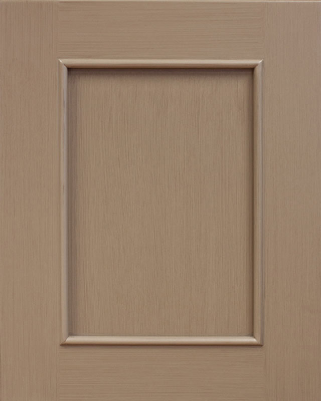 Teton Flat Panel Door Style with Moss Enamel on Maple Wood