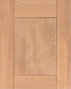 Upland Door Style with Natural Stain on Red Birch Wood