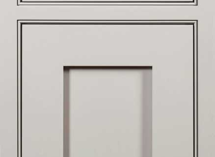 Beaded Inset Overlay shown on a Yellowstone Door with Auburn Enamel on maple.