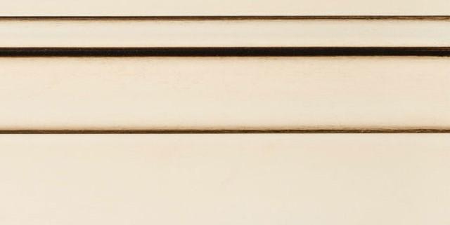 Vanilla Cream Enamel With Bold Coffee Shadow on Maple Wood